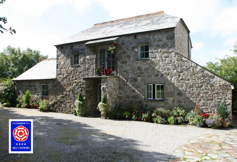 Hollyhock cottage is on the ground floor of the converted barn.