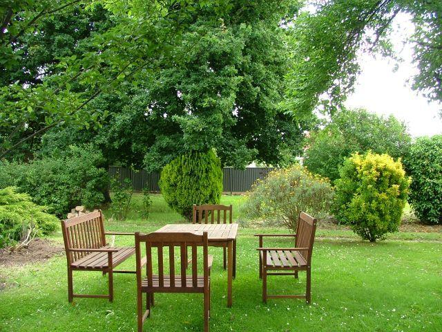 Relax in the outdoor garden