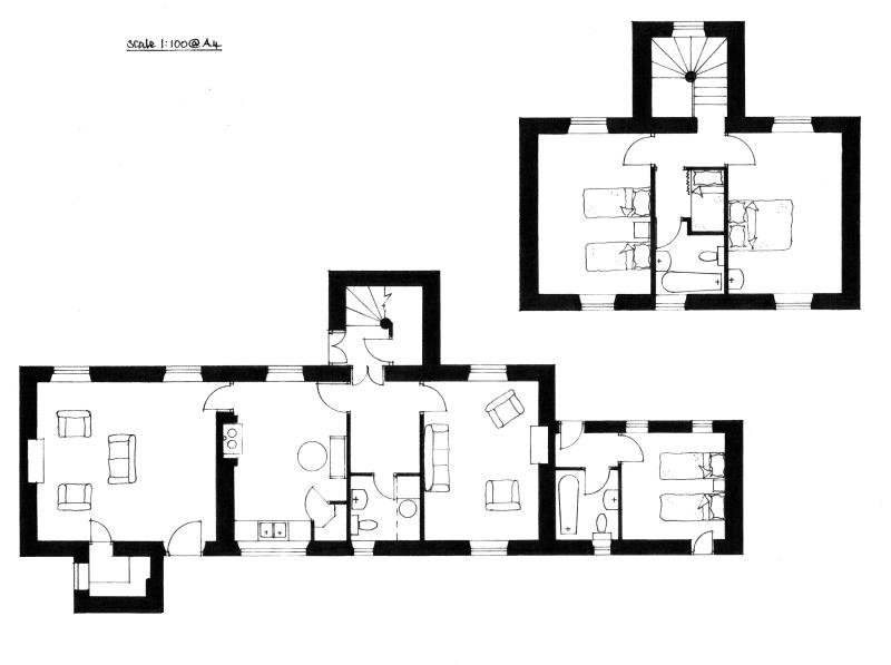 Here's the floorplan - the house faces South East.