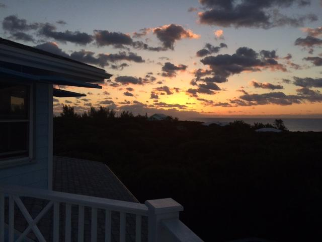 Sunrise from top deck outside master bedroom