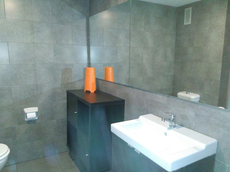 Baño reformado en mayo de 2016 con plato de ducha y espejo de casi 2 metros de largo