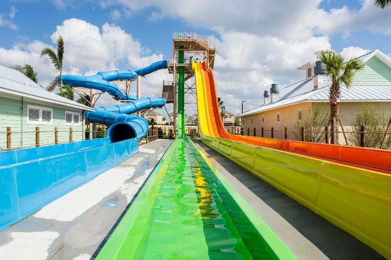 Wonderful Water Slides inside the Encore Club Resort!