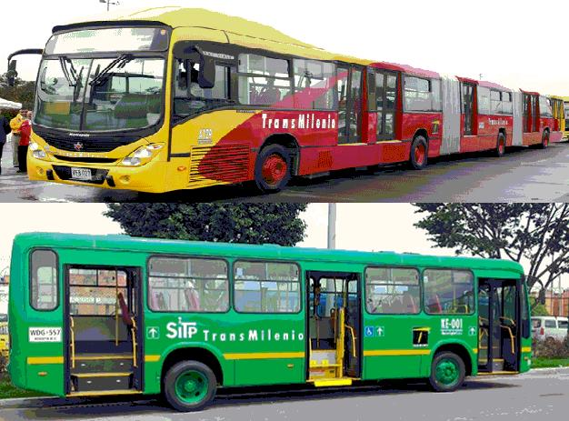 To 4 blocks walking distance there is a stop of transmilenio green bus.