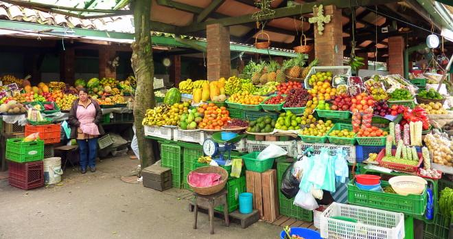 A Colombian market, called Plaza de Mercado, is a picturesque and fun place.
