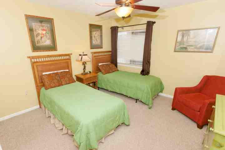 Kamer met twee aparte bedden