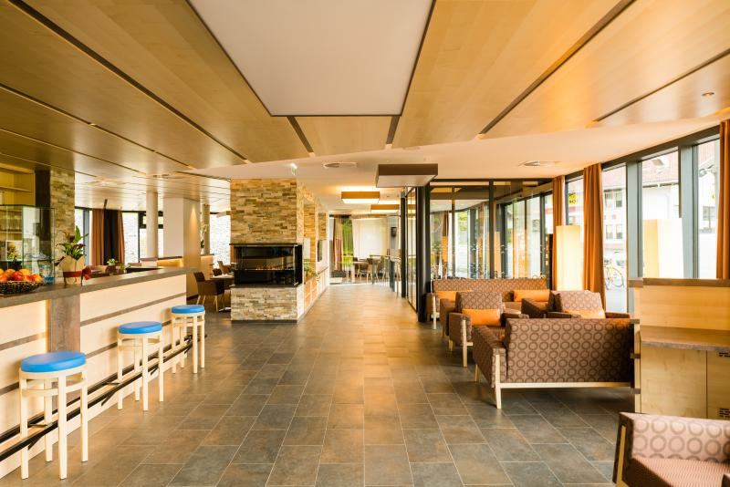 Inviting and comfortable - the lobby in Guthof Lutz
