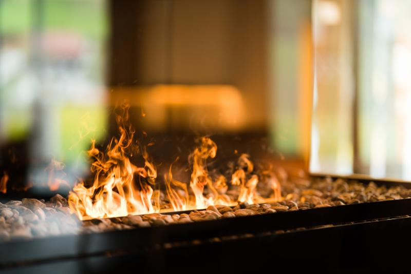 Effect fire fireplace. Childproof because no gas or methanol - water vapor and electric. light