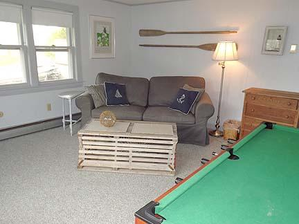 Lower Level Living Area with Foosball Table