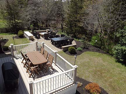 View of Back Yard from King Master Balcony