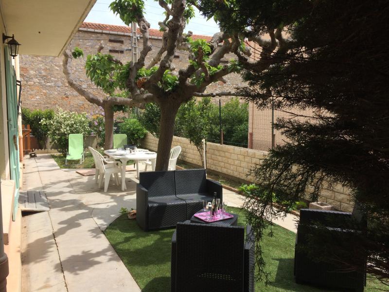 Terrasse privative ensoleillée