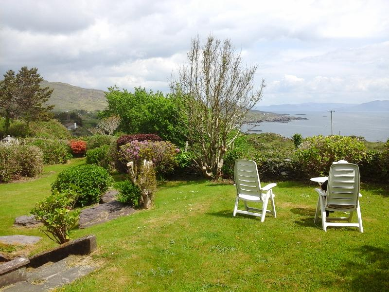 View of Kenmare Bay from the house and garden