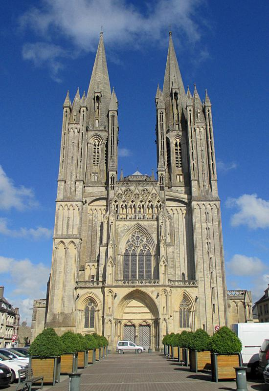 The Cathedral at Coutances, worth a visit there are also many bars restaurants and shops for the day