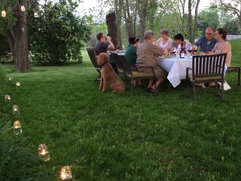 Al fresco dining on a beautiful, warm early summer evening