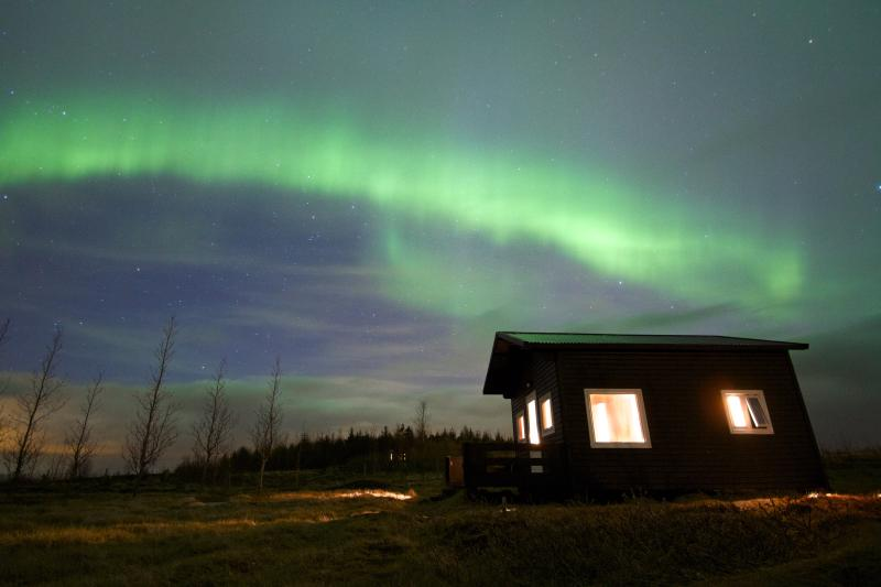 Northern Lights over Sel in early April (photo: Niels)