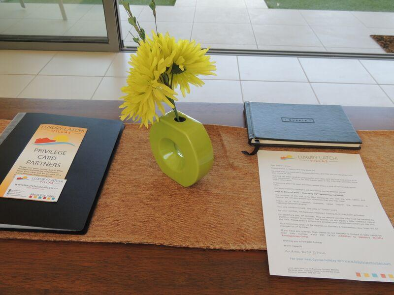 Welcome letter, privilege card, visitor's book