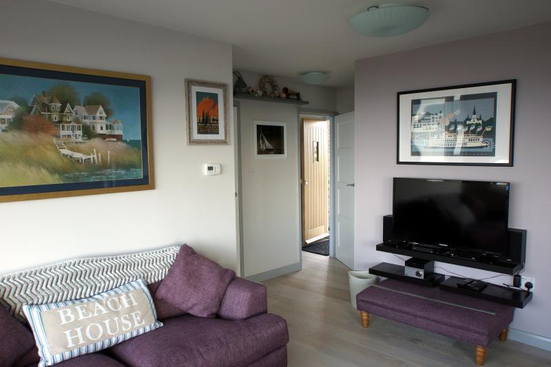 The lounge looking towards the front door