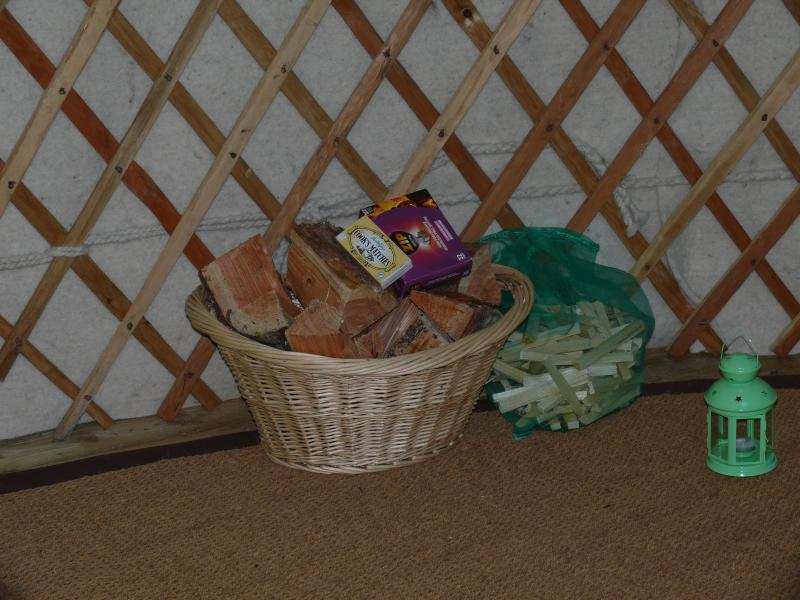 Complimentary Basket of logs