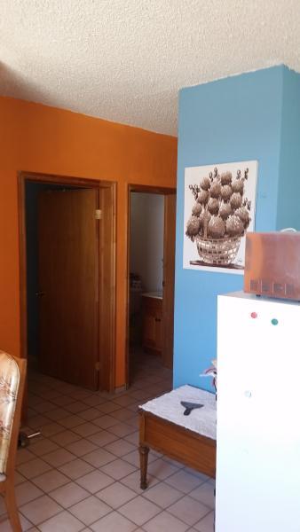 Bedroom and bathroom in condo