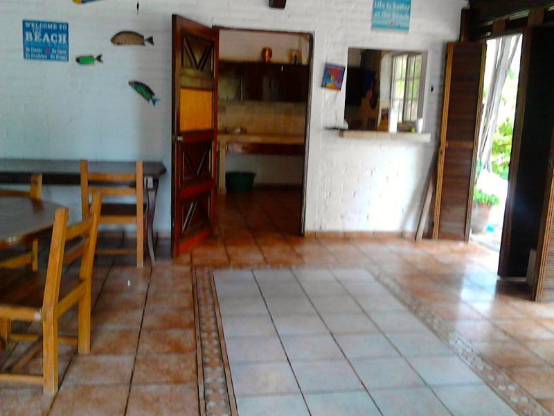 View to kitchen entrance