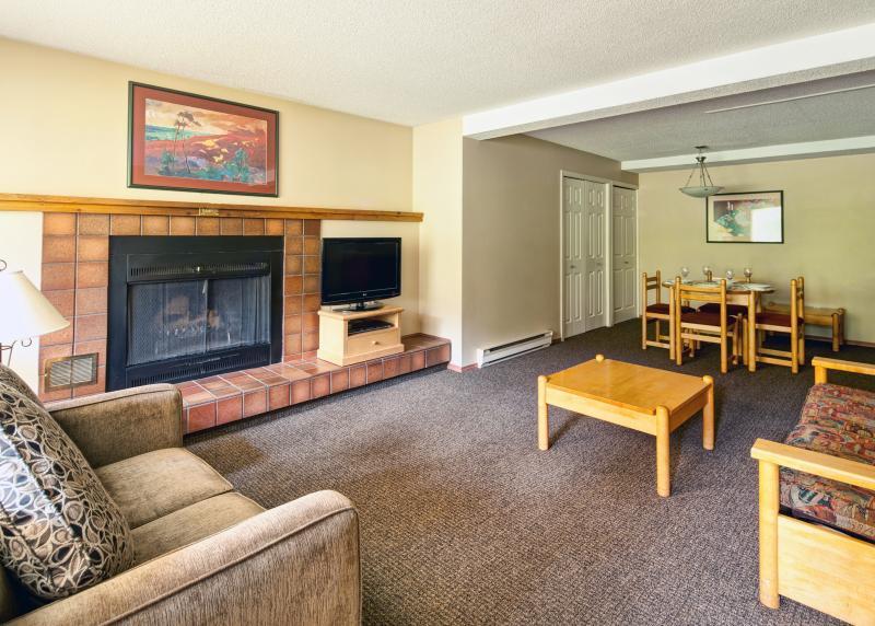 Uitstekende woonkamer in dit gezellige appartement