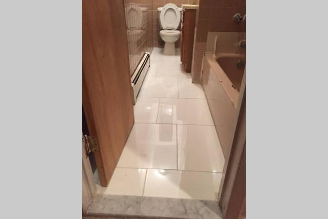 Bathroom upgrade - marble floors