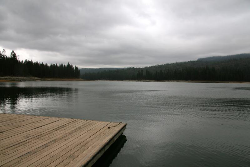Bass Lake on a cloudy, spring evening