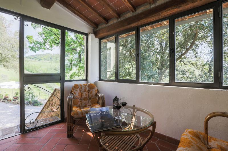 The covered veranda of the apartment Maria