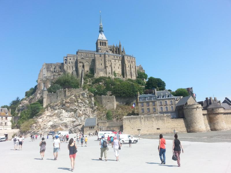 Le Mont saint Michel just 45 mins from us a great day out