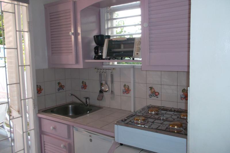 Sample studio apartment kitchen