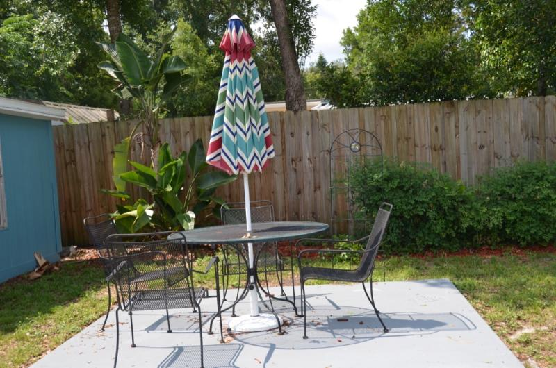 Private outdoor patio