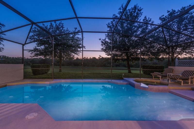 How about a relaxing dip under a starry night......
