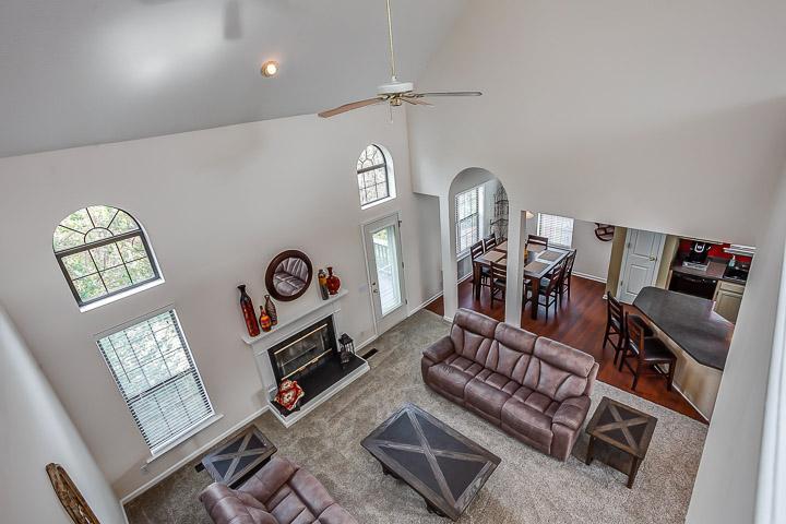 Soaring ceilings in the main living room.