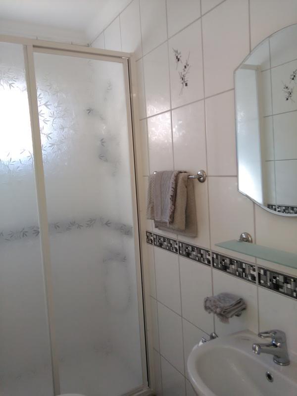 Ensuite bathroom has walk in shower