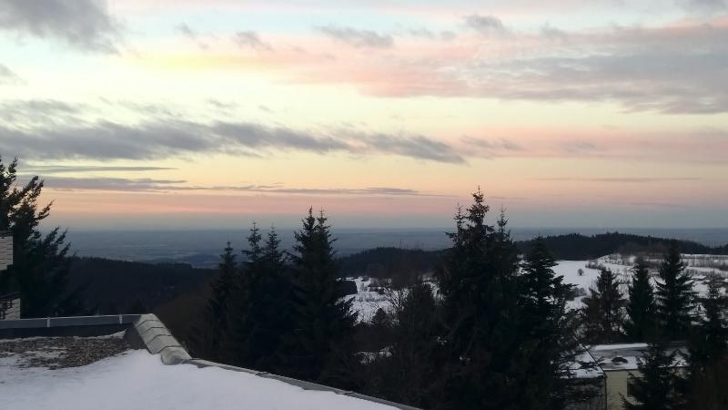Winter Panorama - photographed from the kitchen window