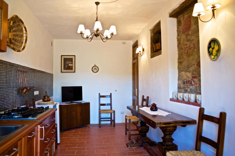 Eco Apartment in Tuscany App. FICO Lionforti, holiday rental in La Panca