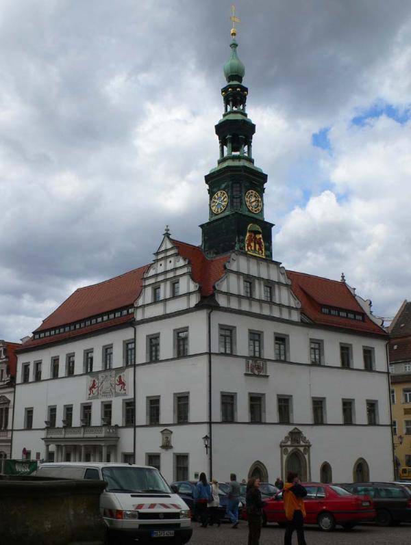 Pirna - die Canalettostadt; hier das Pirnaer Rathaus