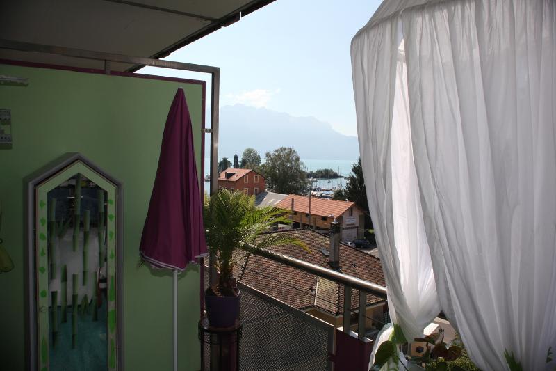 Balcón-Mauve- Lago -Léman en CLARENS -Montreux- Switzerland-