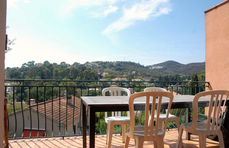 Beautiful terrace overlooking the hills