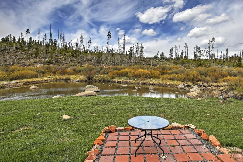 The property boasts awe-inspiring views of the Colorado high country.