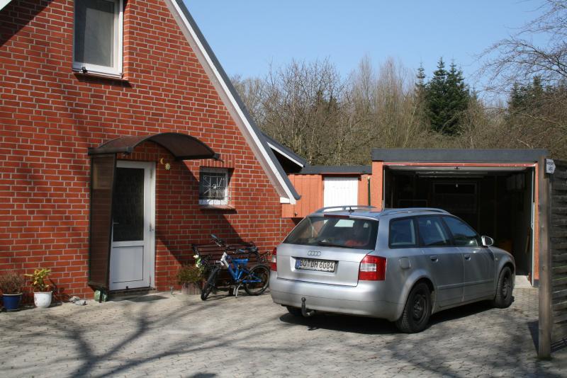 Entrance door and garage