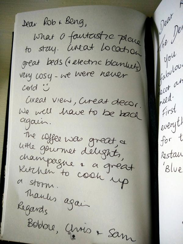 Guestbook review: Great for 3 single friends travelling together!