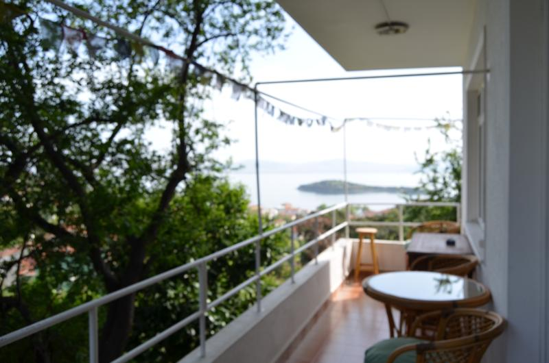 View of the city and the small 'Spoon island' from the balcony..