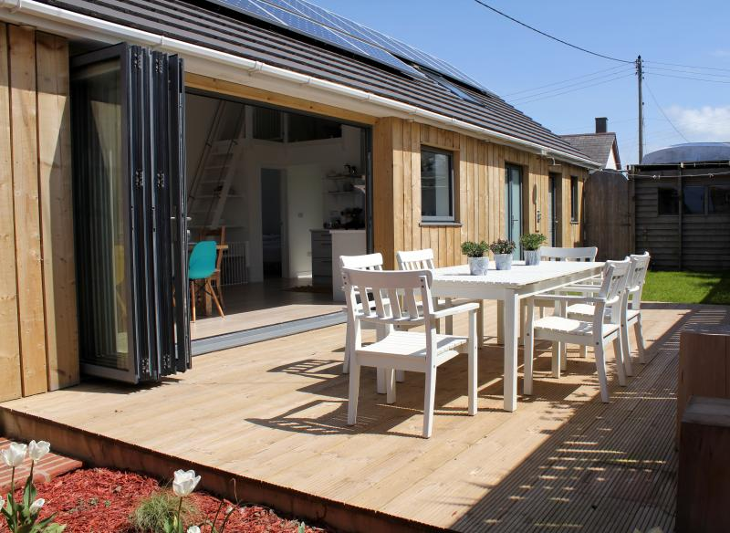 An Mordros - the south-facing rear decking is perfect for al fresco dining