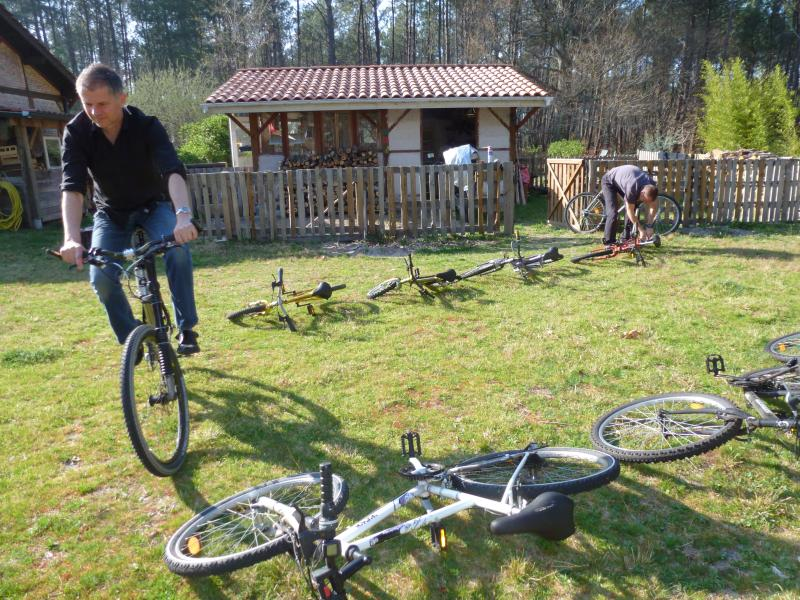 Bicycles regularly revised are loaned free of charge