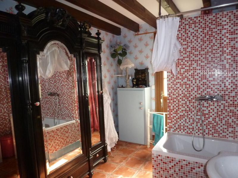 The small bathroom with bathtub