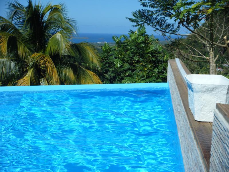 ★★★VILLA VUE SUR MER+PISCINE PETIT COIN DE PARADIS, aluguéis de temporada em Arrondissement of Le Marin
