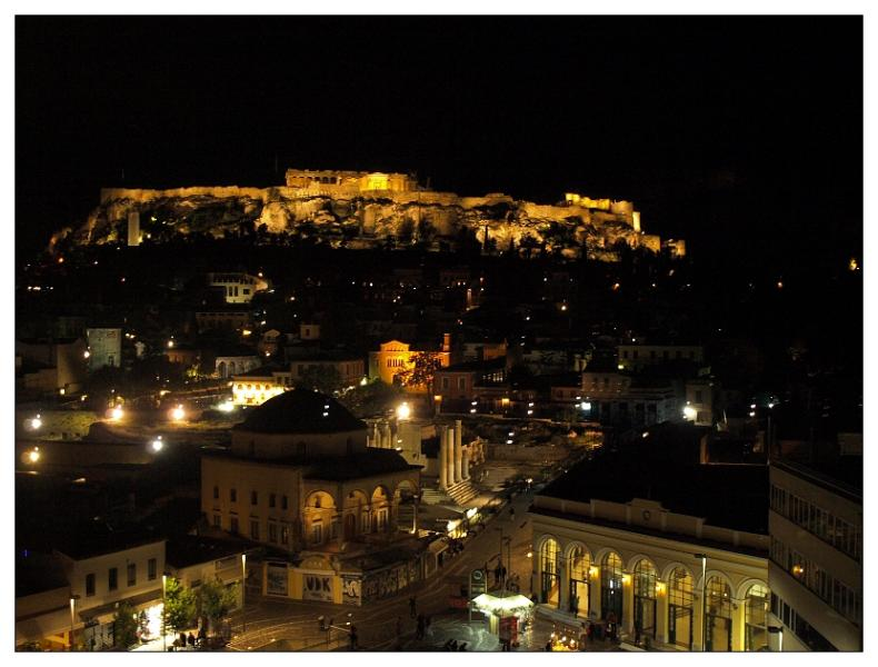 The view is even more spectacular at night, when the hill is lighted