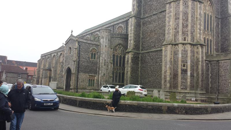 cromer church centrally located, 2 minute walk from the flat