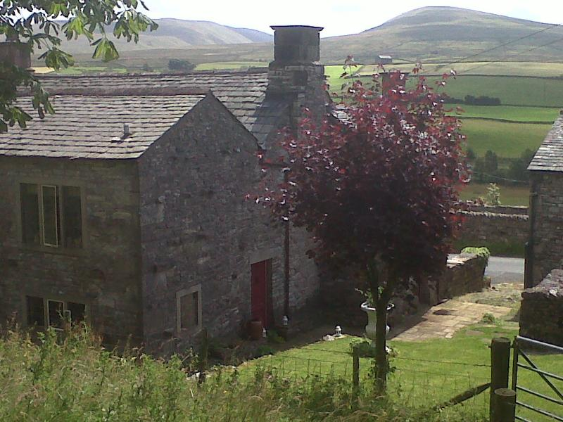 View over the Howgills from the garden. (Gatehouse is building on rhs)
