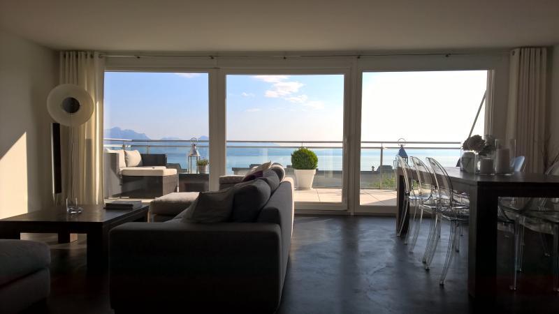 Maison avec vue panoramique sur le lac, alquiler de vacaciones en Lausana